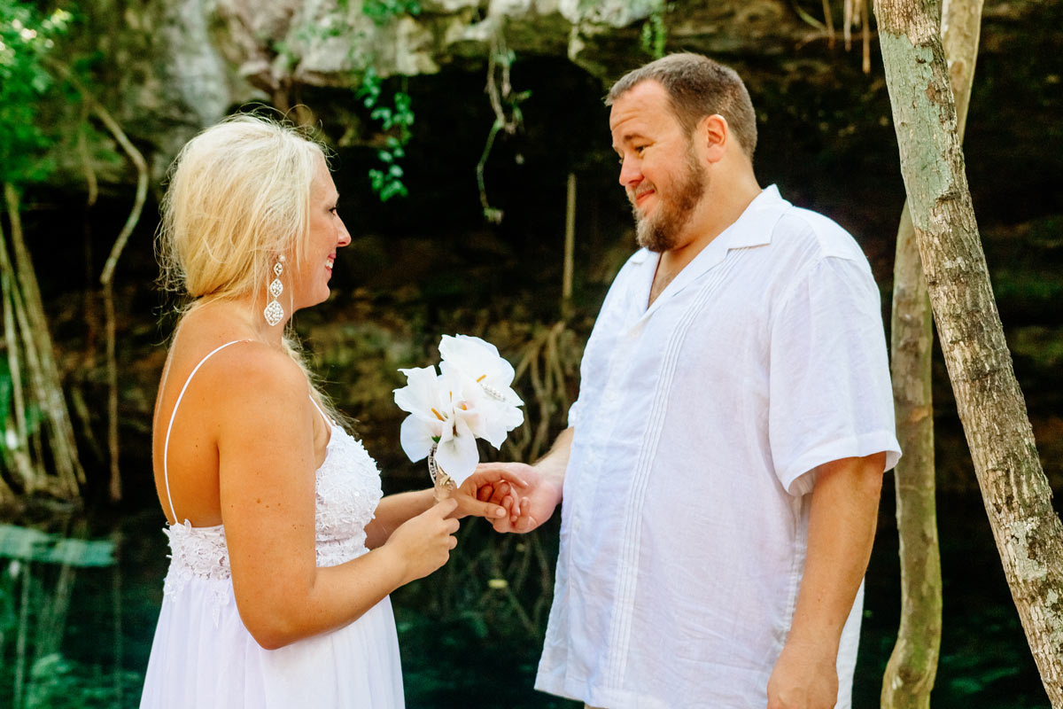 Cenote wedding in Riviera Maya Mexico by Mango Weddings